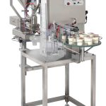 PACKINOV Machine de conditionnement conditionneuse doseuse thermoscelleuse yaourt RMD Eco